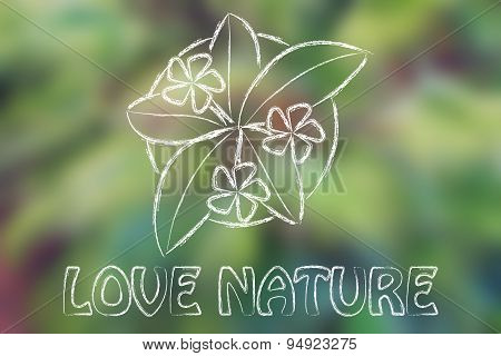 Love Nature, Vase With Flowering Plant