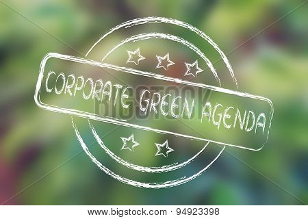 Stamp With 5 Stars Evaluation About Corporate Green Agenda