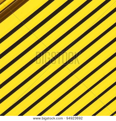 Yellow  Abstract Metal In England London Railing Steel And Background