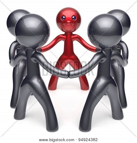 Leader Leadership Character Teamwork Circle Stylized Men