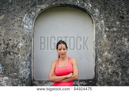 Fitness Woman With Arms Crossed