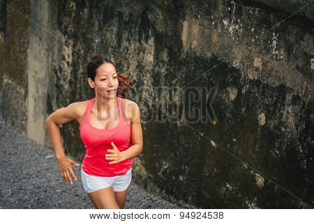 Female Ahtlete Running Outdoor