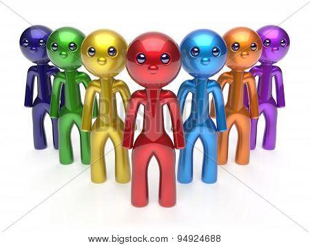 Leadership Businessman Commander Teamwork Characters