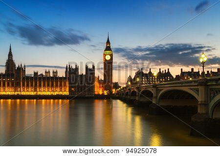 Houses Of Parliament During The Blue Hour