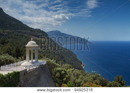 Temple Overlooking The Coast Of Mallorca