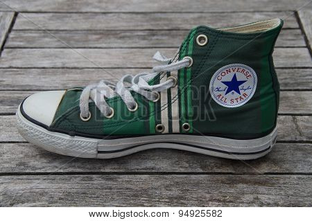 Green Retro Converse All Star - Canvas shoe