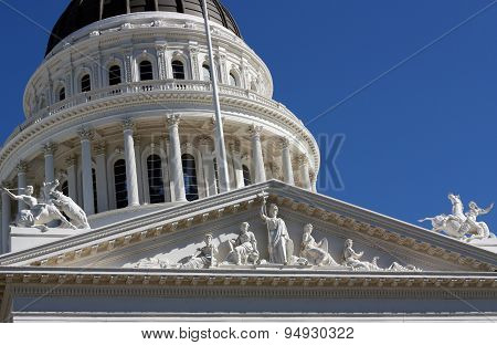 Capitol Building In Sacramento California