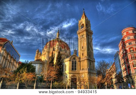 Hdr Image Of The Church Of San Manuel Y San Benito, Madrid, Spain