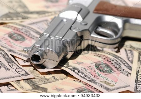 Money Crime Scene A Guns