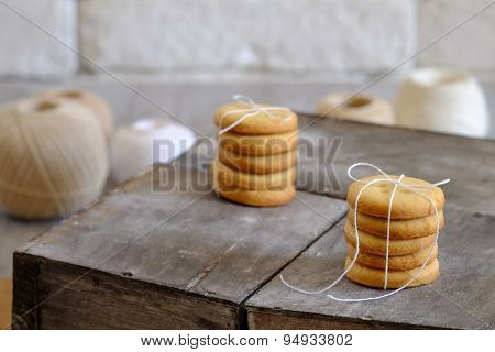 Stack Of Tasty Biscuits