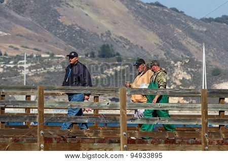 Fishermen On The Pier