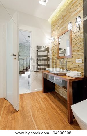 Brown Exclusive Bathroom