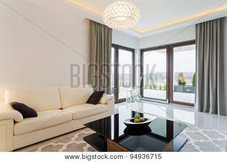 Cream Sofa In Bright Interior