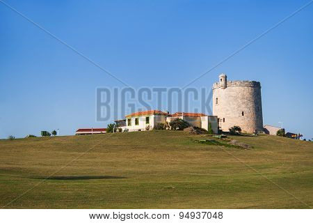 House Which Looks Like A Castle On Hill. Varadero, Cuba.