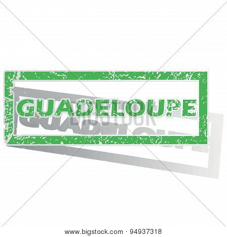 Green outlined Guadeloupe stamp