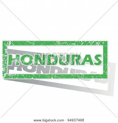 Green outlined Honduras stamp