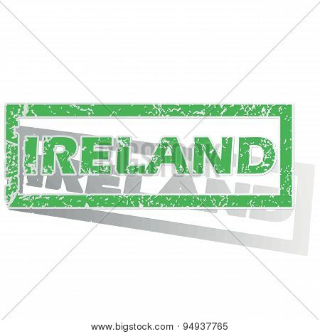 Green outlined Ireland stamp