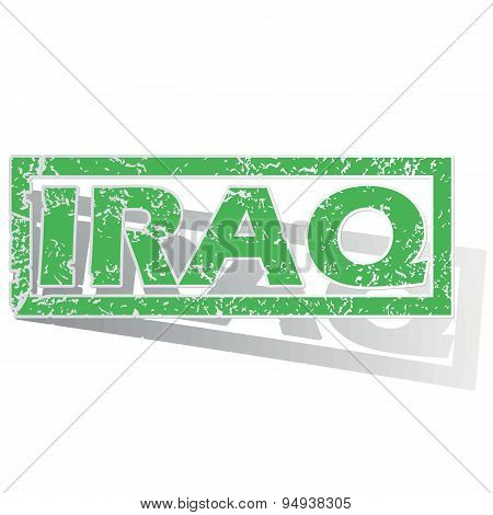 Green outlined Iraq stamp