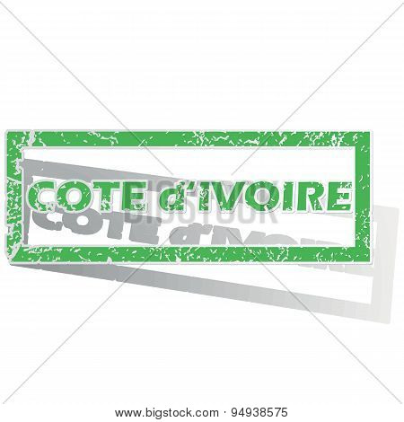 Outlined Cote d Ivoire stamp