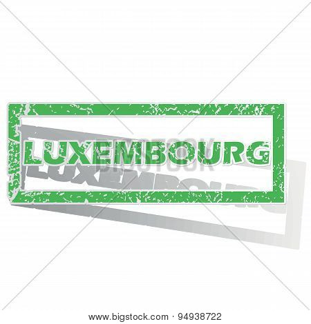 Green outlined Luxembourg stamp