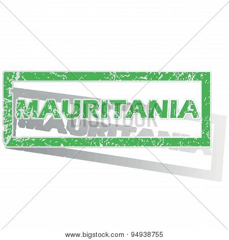 Green outlined Mauritania stamp