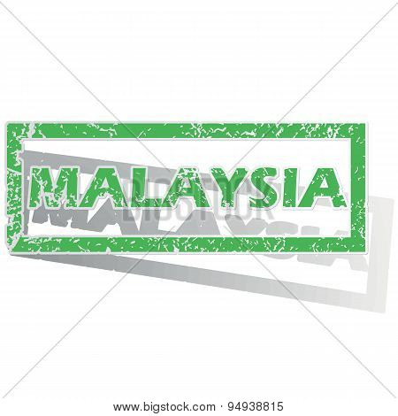 Green outlined Malaysia stamp