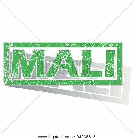 Green outlined Mali stamp