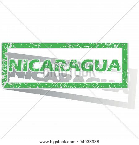 Green outlined Nicaragua stamp