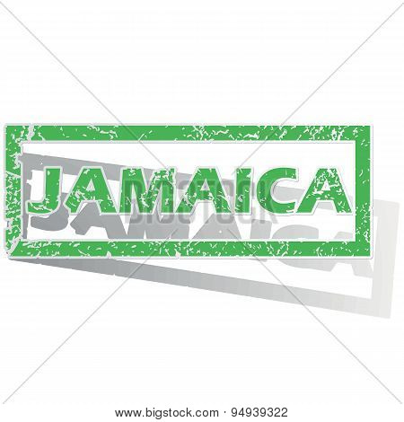 Green outlined Jamaica stamp