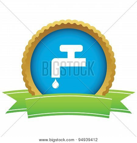 Water tap certificate icon