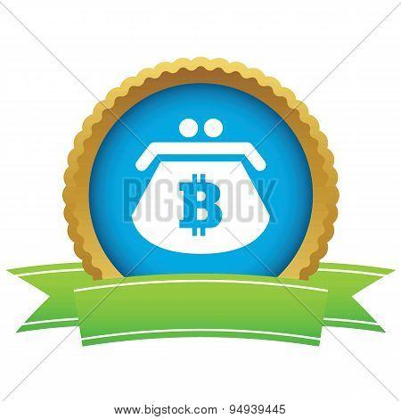 Bitcoin purse certificate icon