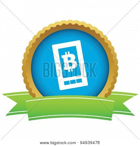 Bitcoin on screen certificate icon