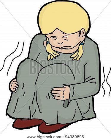 Abused Child Illustration