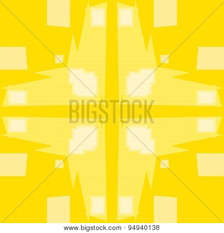 Yellow Square And Plus Pattern