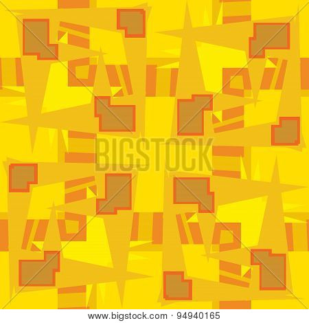 Abstract Yellow Rectangular Shapes