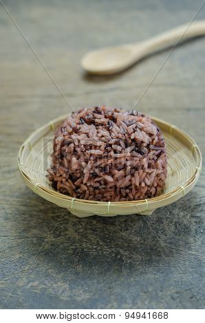 Cooked Rice Of Riceberry