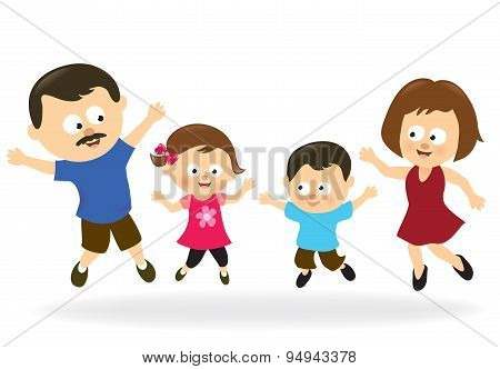 Family jumping