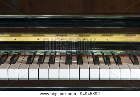 Piano Keys In Black And White Color