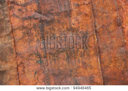 Old Rusty Metal Plate