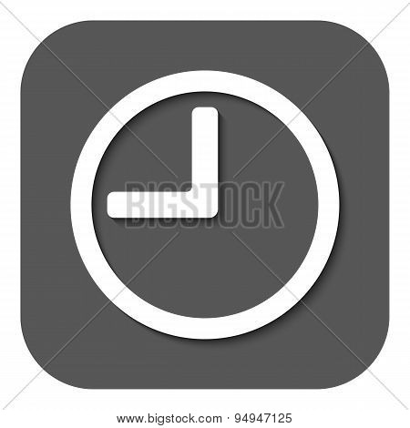 The Time Icon. Clock Sound Symbol. Flat