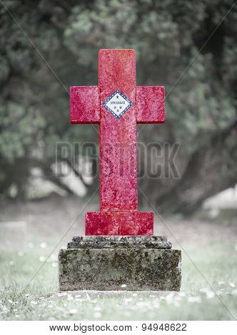 Gravestone In The Cemetery - Arkansas