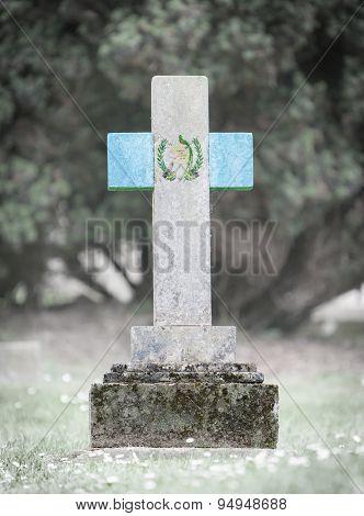Gravestone In The Cemetery - Guatemala