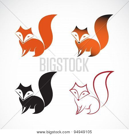 Vector Image Of An Fox Design On White Background