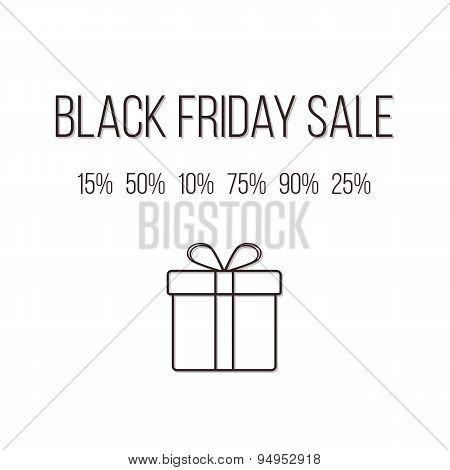 concept of black friday lettering with different sales