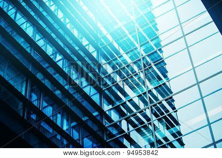 Moden Business Office Building Windows Repeative Pattern