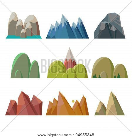 Mountains Isolated