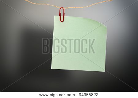 Blank Green Sticker And Red Clip