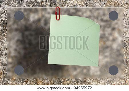 Blank Paper On Dry Soil