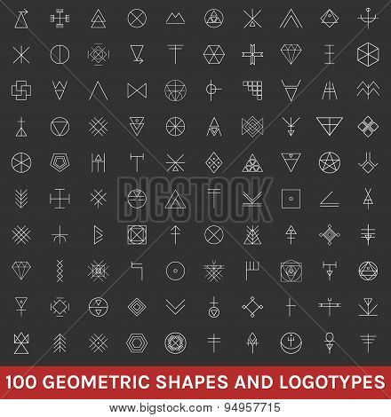 Set Of 100 Geometric Hipster Shapes