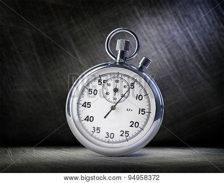 Stopwatch On Steel
